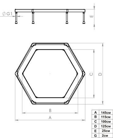 Батут Leco-IT Home диам. 135 см. 1